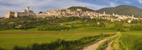 """Village on a hill, Assisi, Perugia Province, Umbria, Italy by Panoramic Images - 27"""" x 9"""""""