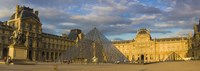"""Pyramid structure, Louvre Museum, Paris, France by Panoramic Images - 27"""" x 9"""""""