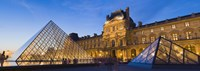 """Pyramids in front of a museum, Louvre Pyramid, Musee Du Louvre, Paris, Ile-de-France, France by Panoramic Images - 27"""" x 9"""""""