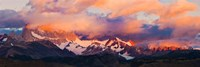 Purple Clouds Over Monte Fitz Roy, Argentina Fine Art Print