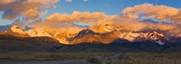 """Golden Clouds Over Monte Fitz Roy, Argentina by Panoramic Images - 27"""" x 9"""", FulcrumGallery.com brand"""