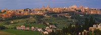 """High angle view of a cityscape, Orvieto, Umbria, Italy by Panoramic Images - 27"""" x 9"""""""
