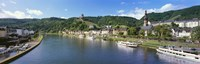 "Town at the riverside, Mosel River, Cochem, Rhineland-Palatinate, Germany by Panoramic Images - 27"" x 9"" - $28.99"