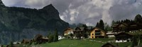 """Buildings in a village, Engelberg, Obwalden Canton, Switzerland by Panoramic Images - 27"""" x 9"""""""