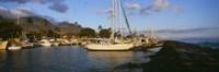 "Sailboats in the bay, Lahaina Harbor, Lahaina, Maui, Hawaii, USA by Panoramic Images - 27"" x 9"" - $28.99"