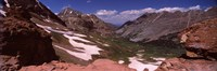 """Rock formations, Maroon Bells, West Maroon Pass, Crested Butte, Gunnison County, Colorado, USA by Panoramic Images - 27"""" x 9"""", FulcrumGallery.com brand"""