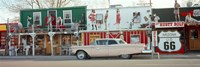 """Car on the road, Route 66, Arizona, USA by Panoramic Images - 27"""" x 9"""""""