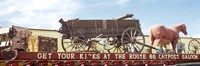 """Low angle view of a horse cart statue, Route 66, Arizona, USA by Panoramic Images - 27"""" x 9"""""""