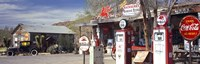Gas Station on Route 66, Hackenberry, Arizona Fine Art Print