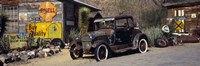 """Abandoned vintage car at the roadside, Route 66, Arizona by Panoramic Images - 27"""" x 9"""""""