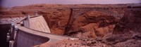 "High angle view of a dam, Glen Canyon Dam, Lake Powell, Colorado River, Page, Arizona, USA by Panoramic Images - 27"" x 9"""