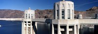 Dam on a river, Hoover Dam, Colorado River, Arizona-Nevada, USA Fine Art Print