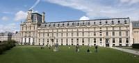 "Facade of a museum, Musee Du Louvre, Paris, Ile-de-France, France by Panoramic Images - 27"" x 9"""
