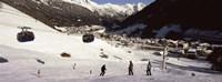 "Ski lift in a ski resort, Sankt Anton am Arlberg, Tyrol, Austria by Panoramic Images - 27"" x 9"""