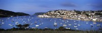 Town on an island, Salcombe, South Hams, Devon, England Fine Art Print