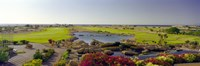 """Pond in a golf course, The Cascades Golf & Country Club, Soma Bay, Hurghada, Egypt by Panoramic Images - 27"""" x 9"""""""