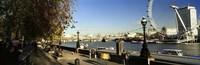 Ferris wheel at the riverbank, Millennium Wheel, Thames River, London, England Fine Art Print