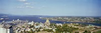 """High angle view of a cityscape, Chateau Frontenac Hotel, Quebec City, Quebec, Canada 2010 by Panoramic Images, 2010 - 27"""" x 9"""""""