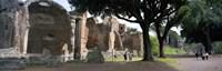 "Tourists at a villa, Hadrian's Villa, Tivoli, Lazio, Italy by Panoramic Images - 27"" x 9"" - $28.99"