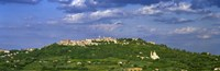 """Town on a hill, Montepulciano, Val di Chiana, Siena Province, Tuscany, Italy by Panoramic Images - 27"""" x 9"""""""