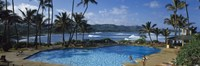 """Tourists at an infinity pool, Hawaii, USA by Panoramic Images - 27"""" x 9"""" - $28.99"""