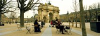 "Arc De Triomphe Du Carrousel, Musee Du Louvre, Paris, Ile-de-France, France by Panoramic Images - 27"" x 9"""
