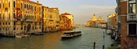 """Vaporetto water taxi in a canal, Grand Canal, Venice, Veneto, Italy by Panoramic Images - 27"""" x 9"""""""
