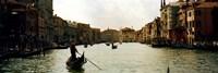 Gondolas in the canal, Grand Canal, Venice, Veneto, Italy Fine Art Print