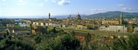 """Buildings in a city with Florence Cathedral in the background, San Niccolo, Florence, Tuscany, Italy by Panoramic Images - 27"""" x 9"""", FulcrumGallery.com brand"""