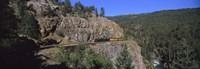 "Train moving on a railroad track, Durango And Silverton Narrow Gauge Railroad, Silverton, San Juan County, Colorado, USA by Panoramic Images - 27"" x 9"", FulcrumGallery.com brand"
