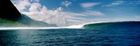 """Breaking Waves in Front of a Mountain by Panoramic Images - 27"""" x 9"""""""
