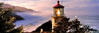 "Lighthouse at a coast, Heceta Head Lighthouse, Heceta Head, Lane County, Oregon (horizontal) by Panoramic Images - 27"" x 9"""