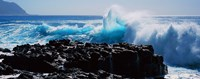 """Waves breaking on rocks by Panoramic Images - 27"""" x 9"""""""