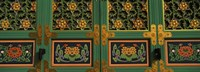 Buddhist temple Paintings, Kayasan Mountains, Haeinsa Temple, Gyeongsang Province, South Korea Fine Art Print