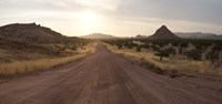 "Dirt road passing through a desert, Namibia by Panoramic Images - 27"" x 9"" - $28.99"
