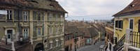 "Buildings in a city, Town Center, Big Square, Sibiu, Transylvania, Romania by Panoramic Images - 27"" x 9"""