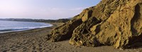 """Rock formations on the beach, Chios Island, Greece by Panoramic Images - 27"""" x 9"""""""
