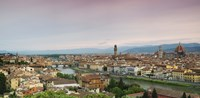 "Buildings in a city, Ponte Vecchio, Arno River, Duomo Santa Maria Del Fiore, Florence, Italy by Panoramic Images - 27"" x 9"""