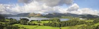 """Hill and lake, Derwent Water, Keswick, English Lake District, Cumbria, England by Panoramic Images - 27"""" x 9"""""""