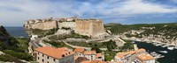 """Castle on a hill, Bonifacio Harbour, Corsica, France by Panoramic Images - 27"""" x 9"""", FulcrumGallery.com brand"""