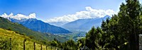 """Clouds over mountains, Valchiavenna, Lake Como, Lombardy, Italy by Panoramic Images - 27"""" x 9"""", FulcrumGallery.com brand"""