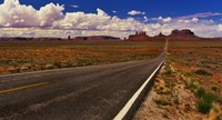 "Road passing through a valley, Monument Valley, San Juan County, Utah, USA by Panoramic Images - 27"" x 9"""