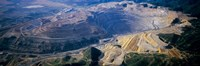 """Aerial view of copper mines, Utah, USA by Panoramic Images - 27"""" x 9"""""""