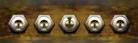 Close-up of Five Switches