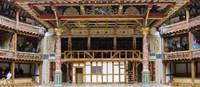 "Interiors of a stage theater, Globe Theatre, London, England by Panoramic Images - 27"" x 10"""