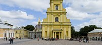 """Facade of a cathedral, Peter and Paul Cathedral, Peter and Paul's Fortress, St. Petersburg, Russia by Panoramic Images - 27"""" x 9"""""""