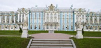 """Blue Facade of Catherine Palace, St. Petersburg, Russia by Panoramic Images - 27"""" x 9"""""""
