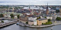 High angle view of a city, Stockholm, Sweden Fine Art Print