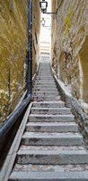 """Stairway along walls, Gamla Stan, Stockholm, Sweden by Panoramic Images - 9"""" x 27"""", FulcrumGallery.com brand"""
