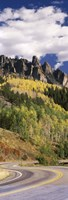 "Winding road passing through mountains, Jackson Guard Station, Ridgway, Colorado, USA by Panoramic Images - 9"" x 27"""